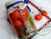Помидоры черри маринованные с семенами горчицы