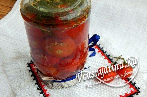 Маринованные помидоры с горчицей, рецепт с фото