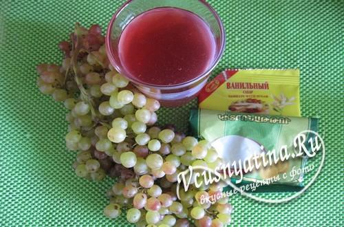Ингредиенты для варенья из винограда кишмиш