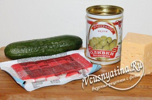 ингредиенты для канапе