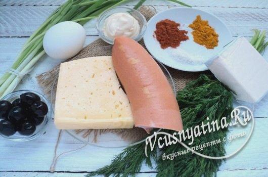 ингредиенты к закуске Елочные шары