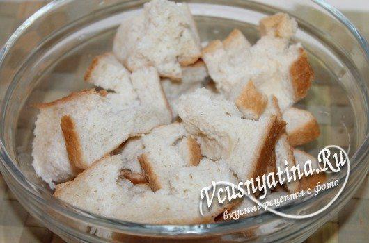 замочить хлеб в молоке