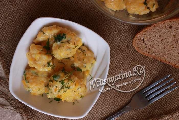 клецки из тыквы с сыром - рецепт с фото