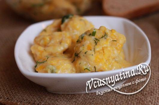 Сырно-тыквенные клецки, рецепт