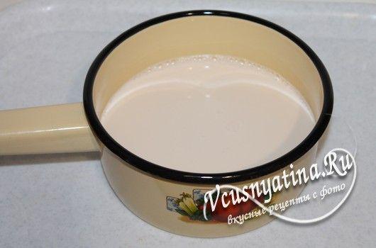 подогреть молоко для блинчиков