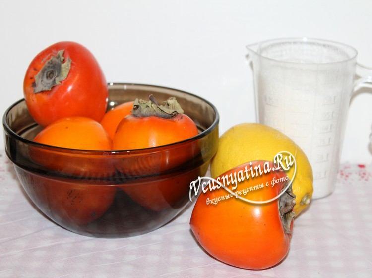 Ингредиенты для варенья из хурмы