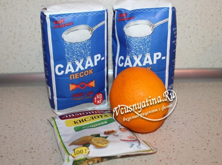 Ингредиенты для березового сока