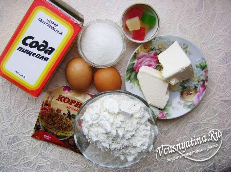 Ингредиенты для пасхального кулича с цукатами