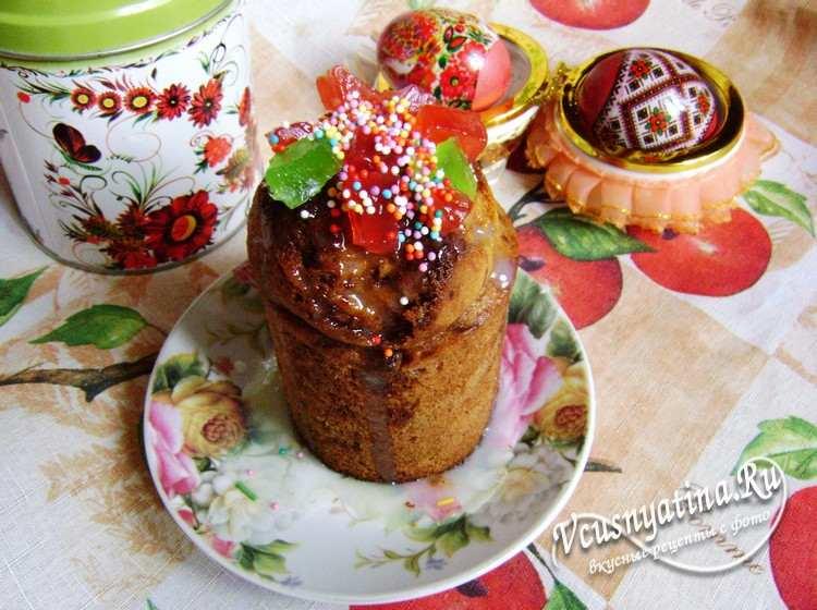Рецепт кулича с цукатами