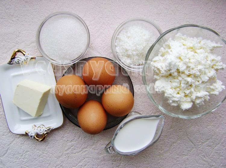 Ингредиенты для пасхи с кокосовой стружкой