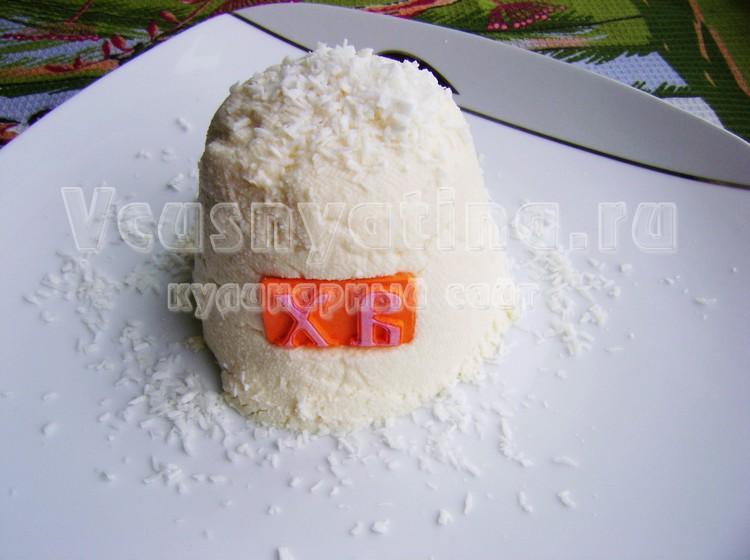 Рецепт пасхи с кокосовой стружкой
