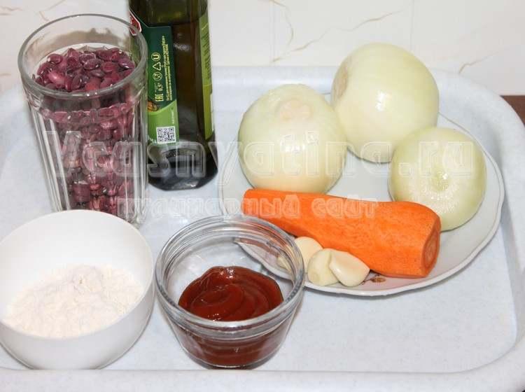 Ингредиенты для фрикаделек из фасоли