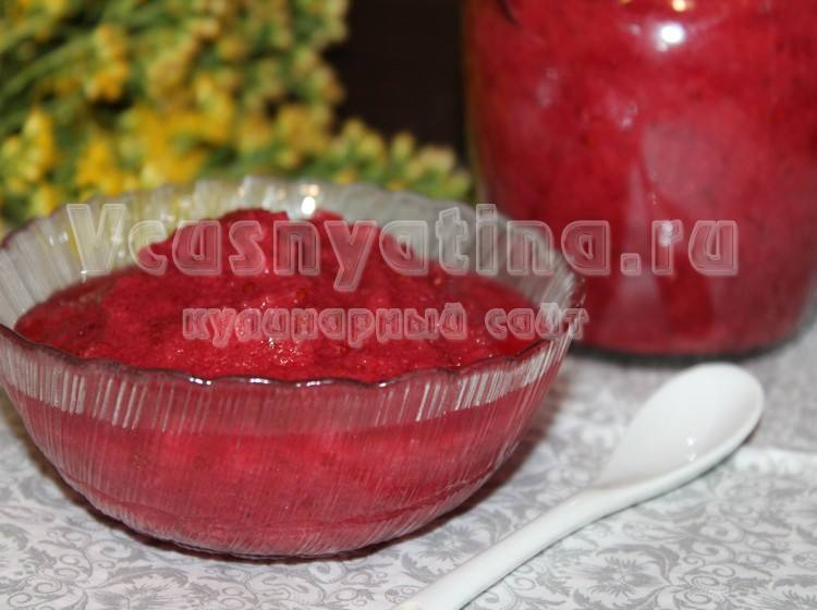 Вкусное варенье из кабачков и красной смородины