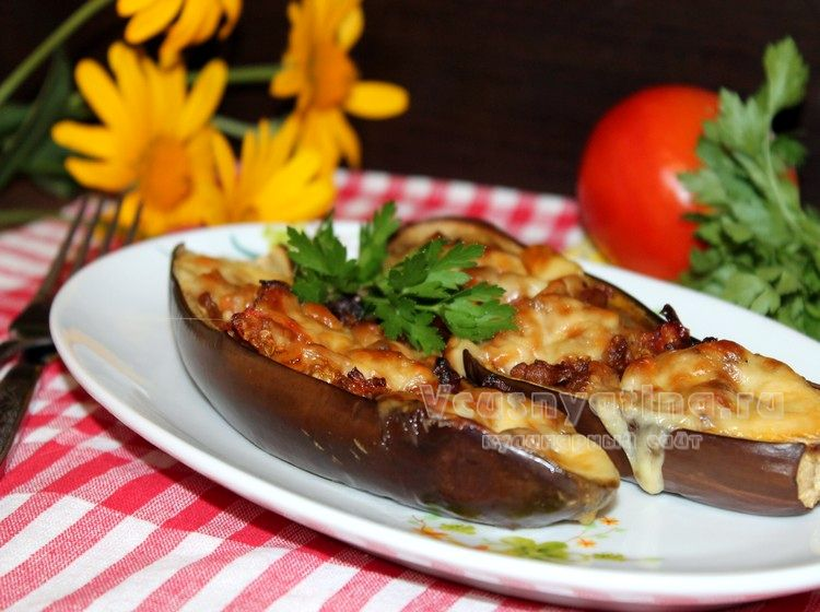 баклажаны запеченные в духовке с чесноком рецепт с