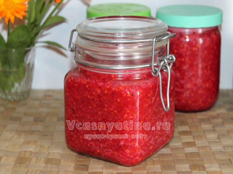 Сырое варенье из красной смородины на зиму