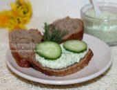 Творог с огурцом и зеленью: рецепт с фото