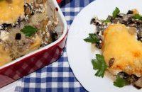 Баклажаны запеченные с грибами и сыром в духовке: рецепт с фото