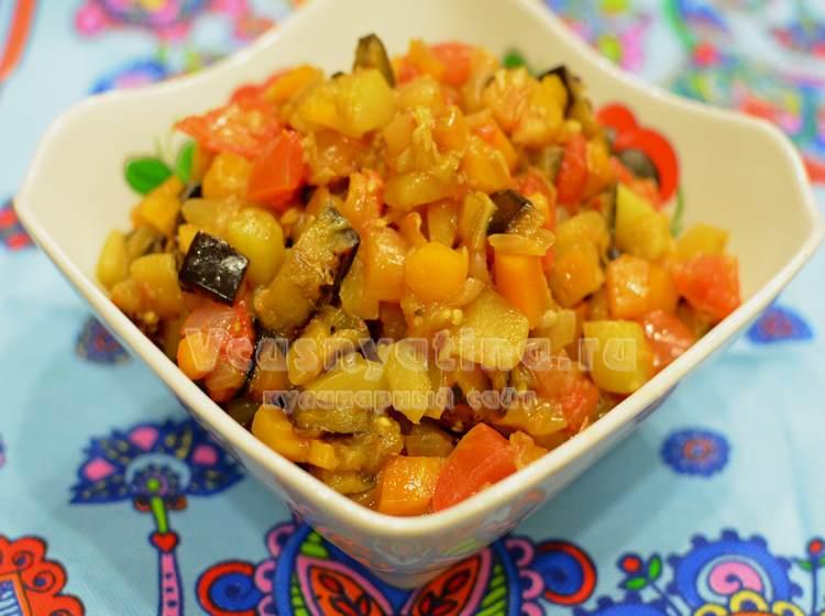 Овощная икра из баклажанов и кабачков