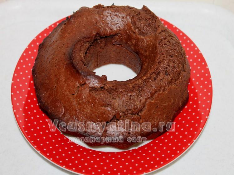 Готовый постный шоколадный кекс
