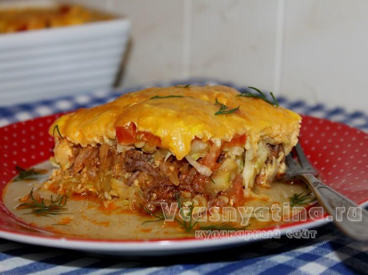 рецепт кабачки в духовке с фаршем и помидорами