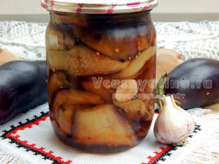 Баклажаны с медом и чесноком на зиму