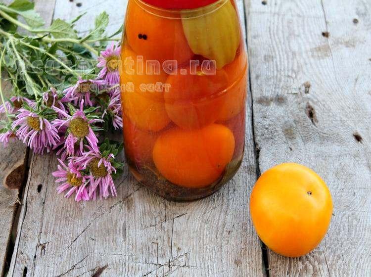 Как закрыть желтые помидоры на зиму без стерилизации
