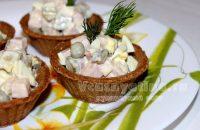 Салат в тарталетках: рецепт с фото