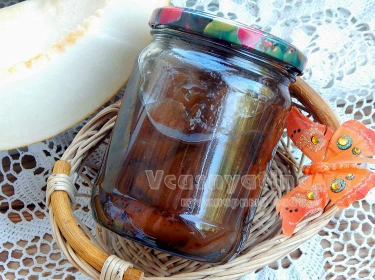 Варенье из груш  и дыни с мятой в мультиварке