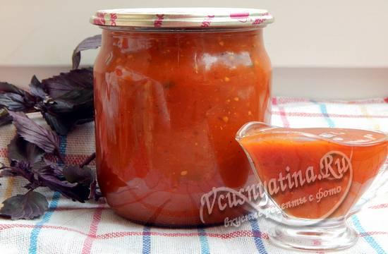 Острый кетчуп из помидоров с перцем