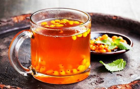 Согревающий чай из облепихи