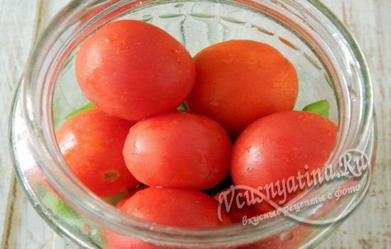 Выложить помидоры черри