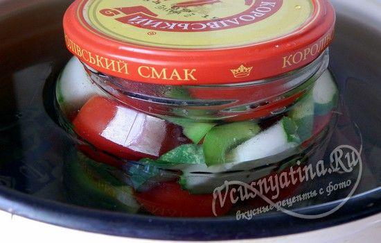 Стерилизация помидоров черри с огурцами на зиму