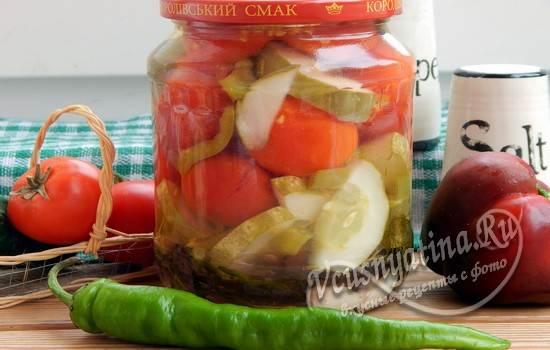Маринованные помидоры черри с огурцами на зиму