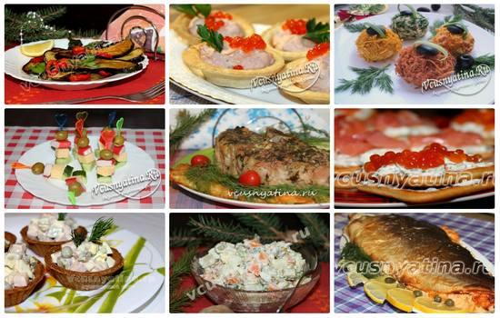 Новогодние блюда 2017