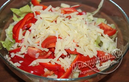 К салату добавить пармезан
