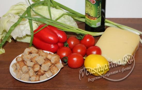 Ингредиенты для салата Мишура