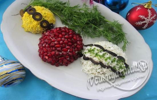 Салат Новогодние шары