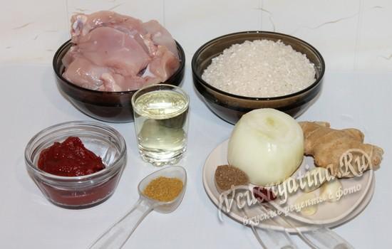 Ингредиенты для бириани