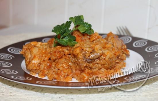 Бириани с курицей (индийский плов)