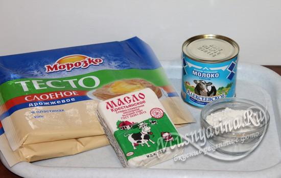 Ингредиенты для наполеона