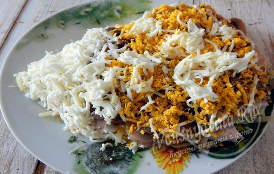 Оформляем салат ежик