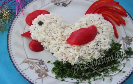 """Салат """"Петушок"""" на Новый год"""