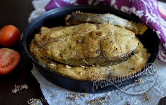 Запеченный белый амур в духовке: рецепт с фото