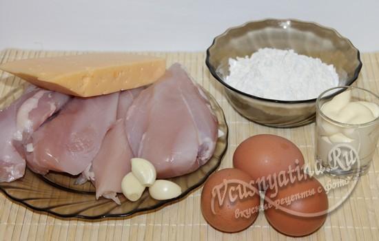 Ингредиенты для отбивных с сыром