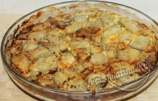запечь картофель с рыбой в духовке