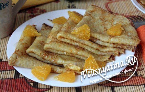 блинчики с апельсином