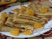 тонкие блины с апельсином