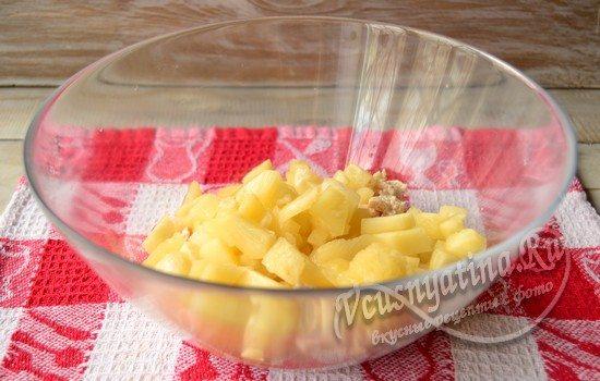 ананасы порезать