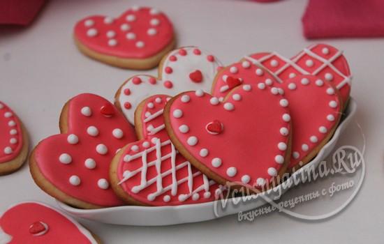 Медовое печенье «Валентинки» с глазурью