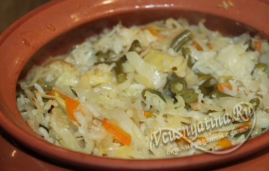 готовим рис в духовке